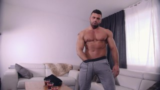 Maskurbate Jeremy Showing Off Hot Bod and Cock