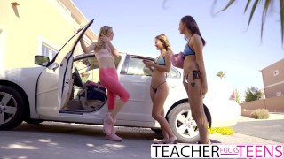 Lesbian Teacher Seduces Teen Students In Threeway  lesbian threesome carolina sweets babe eating-pussy blonde cunnilingus skinny hottie fingering orgasm teenager hot teacher teacherfucksteens tiny teen jillian janson uma jolie