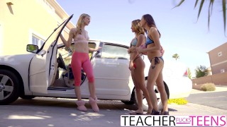 Lesbian Teacher Seduces Teen Students In Threeway  lesbian threesome jillian janson carolina sweets babe eating-pussy blonde cunnilingus skinny hottie fingering orgasm teenager hot teacher teacherfucksteens tiny teen uma jolie
