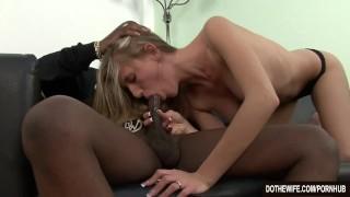 White Wife Black Cock  hardcore interracial big-dick housewife facial vaginal sex cuckold couple aspen blue wife dothewife blowjob