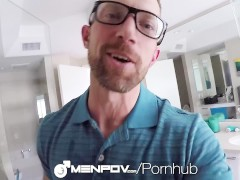 Menpov - Typical day turns into POV shower fuck