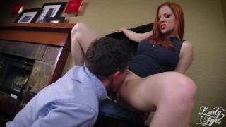 Horny Boss Makes Employee Eat ASS then Fucks him. FULL VIDEO Lady Fyre  ass eating olivia fyre lady fyre redhead mom domination milf kink office butt heels mother laz fyre pussy eating boss ass worship