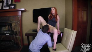Horny Boss Makes Employee Eat ASS then Fucks him. FULL VIDEO Lady Fyre  ass eating ass worship olivia fyre lady fyre redhead mom domination milf kink office butt heels mother laz fyre pussy eating boss