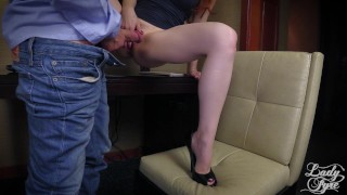 Horny Boss Makes Employee Eat ASS then Fucks him. FULL VIDEO Lady Fyre  ass worship olivia fyre lady fyre redhead mom boss domination milf kink office butt heels mother laz fyre pussy eating ass eating