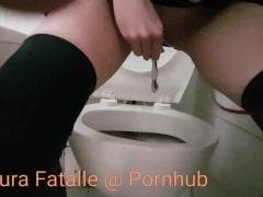 Extreme squirt - piss on daddys toothbrush