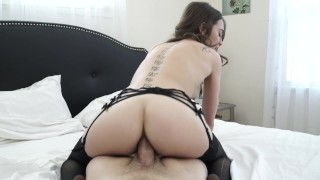 Riley Reid getting fucked by big white cock  big riley reid anal white cock creampie