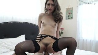 Riley Reid getting fucked by big white cock  riley reid close up creampie reverse cowgirl couple small tits pov big hardcore brunette anal sex doggy petite anal white cock small boobs natural tits