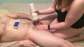 I finally let my husband fuck me (with a strapon)  femdom orgasm denial tease and denial strap on amateur femdom femdom cuckold orgasm denial chastity femdom chastity femdom orgasm control amateur couple mistress pegging adult toys fleshlight fleshlight handjob cock cage