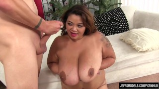 Giant boobed thick asian takes cock  fat ass big naturaltits chunky bbw asian blowjob chubby hardcore titty fuck jeffsmodels big boobs vaginal sex miss lingling
