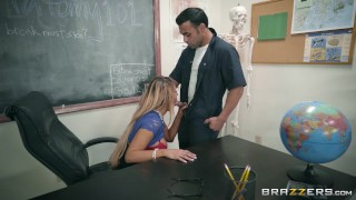 Brazzers - Sexy Teacher Tegan James fuckes the janitor  big-tits mom blonde classroom big-boobs brazzers pounded milf hardcore vibrator school shaved mother teacher stockings