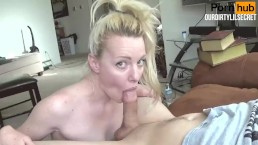 Young Blonde girl Teases Big C