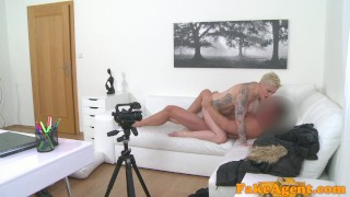 Fake Agent Massive tits short hair babe loves agent cock  audition fakeagent homemade couch amateur blonde real oral-sex cumshot mila milan office sex big-tits pov reality casting interview