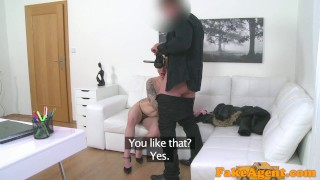Fake Agent Massive tits short hair babe loves agent cock  homemade oral-sex big-tits audition amateur blonde cumshot pov casting couch real reality interview mila milan fakeagent office sex