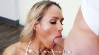 PUREMATURE Busty Milf Tegan James fucked during her yoga session  tegan james old sex yoga mom blowjob big-cock puremature mother bald-pussy hd thick milf busty facial busty milf