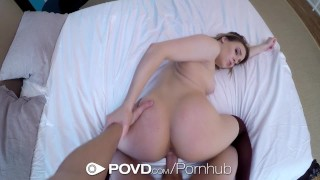POVD Fleshlight warm up before morning fuck with blonde Aubrey Sinclair  riding babe hd point-of-view blonde blowjob pov toys hardcore cowgirl sex small-tits povd stockings facial aubrey sinclair