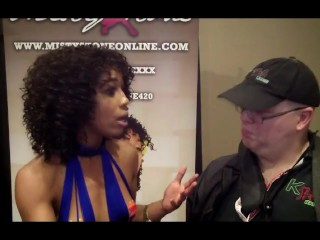 Misty Stone w/ Jiggy Jaguar AVN Expo 2017