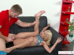 Uma Jolie fucks her friend's brother near stripper pole - Naughty America