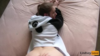Slutty Panda gets Pounded!  panda tail spanking teen point-of-view big-ass blonde buttplug toys hardcore butt rough costume intense save the pandas buttplug tail