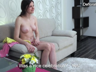 Casting Via Aurore video: Aurore confirms virginity via casting