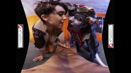 Overwatch XXX VR porn Tracer and Widowmaker get FUCKED on VRCosplayX.com