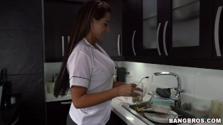 Big Booty Latina Maid Sofia Drops It Like It's Hot (mda13396)  my dirty maid ass bangbros big-tits maid big-ass blowjob house-keeper milf big-butt mydirtymaid butt latina latin sofia housekeeper colombian