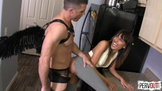 Janice Griffith VS God (with Lance Hart)  strap on janice pegging guy liner pegging strapon janice griffith leggings femdom fucking handjob kink angel sweetfemdom cum eating men in fishnets lance hart