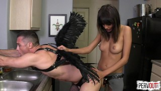 Janice Griffith VS God (with Lance Hart)  strap on janice pegging guy liner pegging strapon janice griffith men in fishnets leggings femdom fucking handjob kink angel sweetfemdom cum eating lance hart