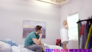 Helpful Step Sis Gets Fucked While Talking On Phone With Dad  big-cock creampie family point-of-view phone-sex blonde skinny sister young taboo hardcore stepsiblingscaught sierra nicole step-sister doggystyle brother and sister