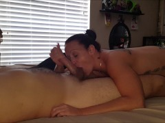 She sucks my cock wearing pink panties Part 1