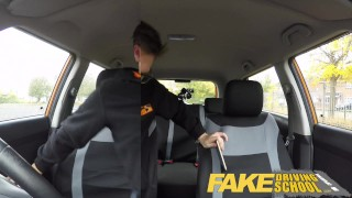 Fake Driving School Young college student takes a creampie for free lessons  driving instructor fake taxi creamy pussy british pigtails glasses funny blowjob pov english young hairy-pussy teen creampie teenager blonde teen grool british teen wet-pussy fuck