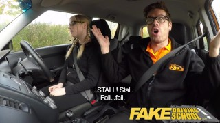Fake Driving School Young college student takes a creampie for free lessons  wet-pussy fuck fake taxi creamy pussy british pigtails glasses funny driving instructor blowjob pov english young hairy-pussy teen creampie grool teenager blonde teen british teen
