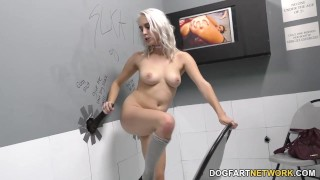 Gloryhole Slut Cadence Lux Sucks Black Cock  big black cock big cock blowjob blonde gloryhole pornstar hardcore kink interracial dogfartnetwork gagging deepthroat glory hole