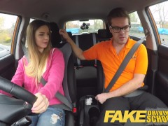 Fake Driving School full scene – Hot Italian learner with big natural tits