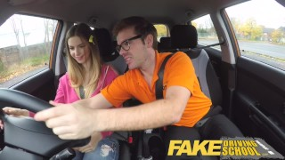 Fake Driving School full scene - Hot Italian learner with big natural tits  big natural tits fake taxi choking funny driving instructor blowjob learning to drive pov young car fakedrivingschool student shaved orgasm big boobs full scene