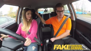 Fake Driving School full scene - Hot Italian learner with big natural tits  big natural tits full scene fake taxi choking funny driving instructor blowjob learning to drive pov young car fakedrivingschool student shaved orgasm big boobs