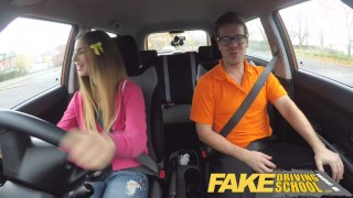 Fake Driving School full scene - Hot Italian learner with big natural tits  big natural tits full scene choking funny driving instructor blowjob learning to drive pov young car fakedrivingschool student fake taxi shaved orgasm big boobs