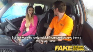 Fake Driving School full scene - Hot Italian learner with big natural tits  big natural tits full scene funny driving instructor blowjob learning to drive pov young car fakedrivingschool student fake taxi shaved orgasm big boobs choking