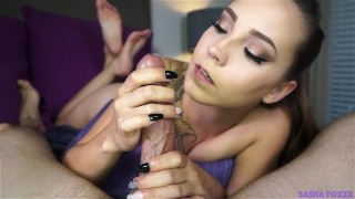 Ruined by Sasha feet young point-of-view blowjob babe mark-rockwell tease hand-job ruined-orgasm tattoo brunette tribbing big-dick sasha-foxxx dick-teasing 60fps