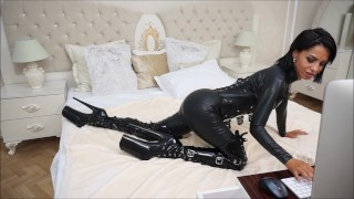 Anisyia Livejasmin full latex and extreme high heel boots pussy penetration  big ass big tits huge tattoo fetish kink romania brunette petite big boobs small waist round tits round ass extreme high heels fitness models fuck latex catsuit