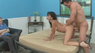 Man likes hot wife taking another man's big cock big-cock couple hardcore milf wife blowjob vaginal-sex mom pornstar persia-pele brunette dothewife cuckold housewife pussy-licking