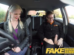 Fake Driving School student with big ...