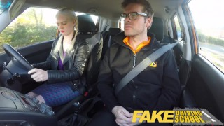 Fake Driving School student with big tits and hairy pussy has creampie  car sex squirting orgasm big tits hairy pussy british pigtails creampie squirt funny blonde young fakedrivingschool reality orgasm big boobs teen squirt