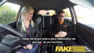 Fake Driving School student with big tits and hairy pussy has creampie  car sex squirting orgasm british pigtails creampie big-tits squirt funny blonde big-boobs young hairy-pussy fakedrivingschool reality orgasm teen squirt
