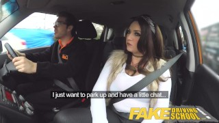 Fake Driving School busty jailbird takes instructor on a wild ride!  big natural tits big ass point of view fake taxi uk big tits british blowjob busty reality student deepthroat big boobs car fakedrivingschool shaved pussy car sex