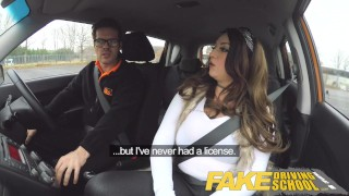 Fake Driving School busty jailbird takes instructor on a wild ride!  big natural tits big ass point of view fake taxi uk big tits british blowjob busty car reality student deepthroat big boobs fakedrivingschool shaved pussy car sex