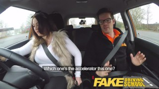 Fake Driving School busty jailbird takes instructor on a wild ride!  big natural tits big ass point of view fake taxi uk big tits british blowjob busty car reality deepthroat big boobs student fakedrivingschool shaved pussy car sex