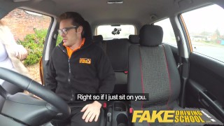 Fake Driving School busty jailbird takes instructor on a wild ride! student fake taxi uk point of view big tits british big ass shaved pussy blowjob big natural tits big boobs deepthroat car fakedrivingschool reality busty car sex