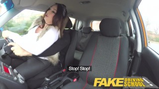 Fake Driving School busty jailbird takes instructor on a wild ride! student fake-taxi-uk point-of-view big-tits british big-ass shaved-pussy blowjob big-natural-tits big-boobs deepthroat car fakedrivingschool reality busty car-sex