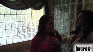 Mofos - Stepmom crashes teen couple ass mofosnetwork 3some young amateur blowjob mom teen ffm mother cock-sucking pov brunette mofos teenager