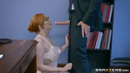Brazzers - Naughty ginger bimbo gets pounded at work
